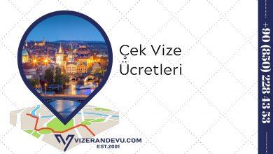 Çek Vize Ücretleri (2021)