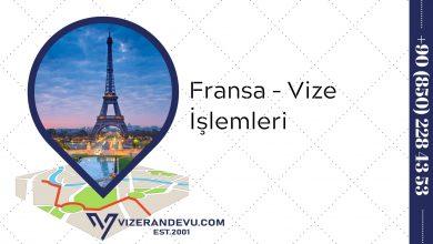 Fransa - Vize İşlemleri