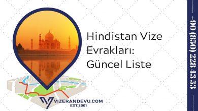 Hindistan Vize Evrakları: Güncel Liste 2021