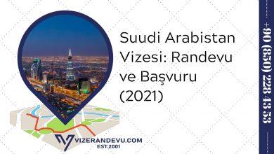 Suudi Arabistan Vizesi: Randevu ve Başvuru (2021)