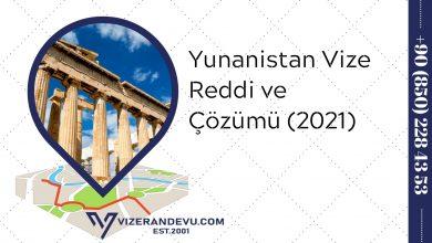 Yunanistan Vize Reddi ve Çözümü (2021)