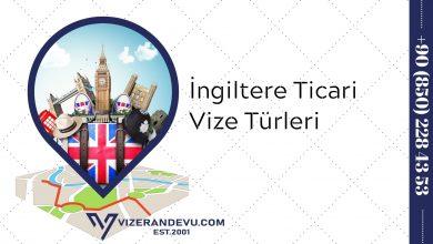 İngiltere Ticari Vize Türleri