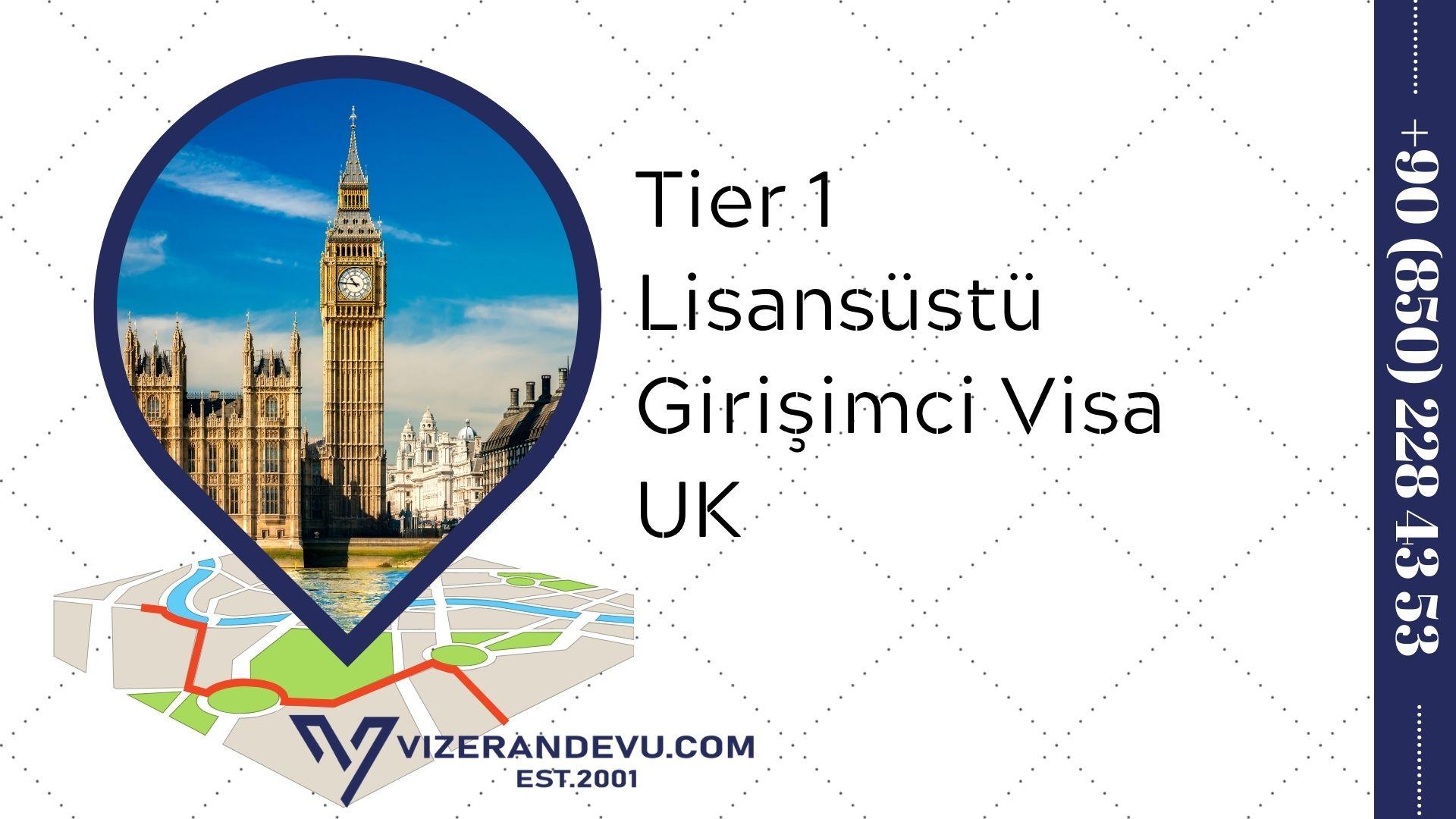 Tier 1 Lisansüstü Girişimci Visa UK