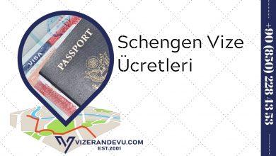 Schengen Vize Ücretleri 2021