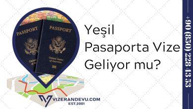 Yeşil Pasaporta Vize Geliyor mu?