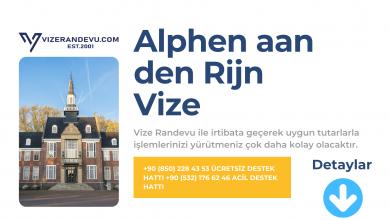 Hollanda Alphen aan den Rijn Vize Başvurusu