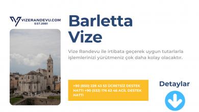 İtalya Barletta Vize Başvurusu