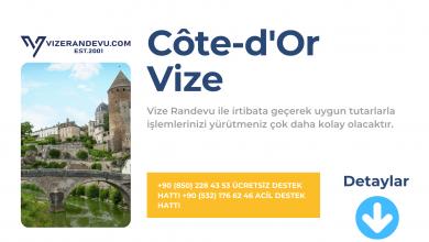 Fransa Cote'd-Or Vize Başvurusu