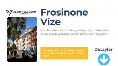 İtalya Frosinone Vize Başvurusu