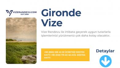 Fransa Gironde Vize Başvurusu