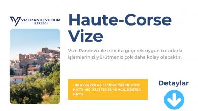 Fransa Haute-Corse Vize Başvurusu