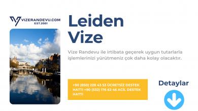 Hollanda Leiden Vize Başvurusu