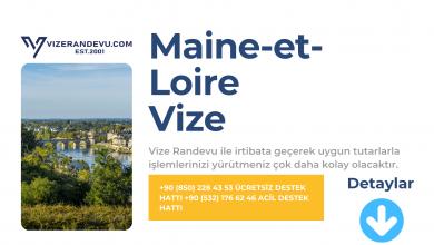 Fransa Maine-et-Loire Vize Başvurusu