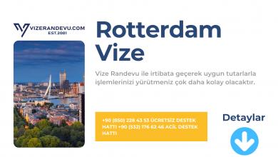 Hollanda Rotterdam Vize Başvurusu