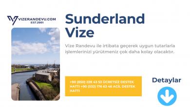 İngiltere Sunderland Vize Başvurusu